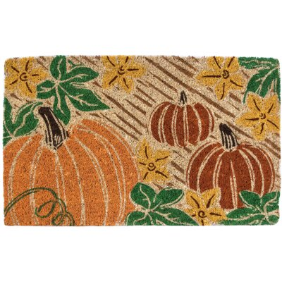Pumpkin Patch Hand-Woven Coir Doormat