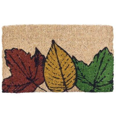 Fallen Leaves Hand-Woven Coir Doormat