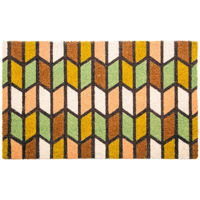 Sweet Home Earth Tones Non Slip Coir Doormat