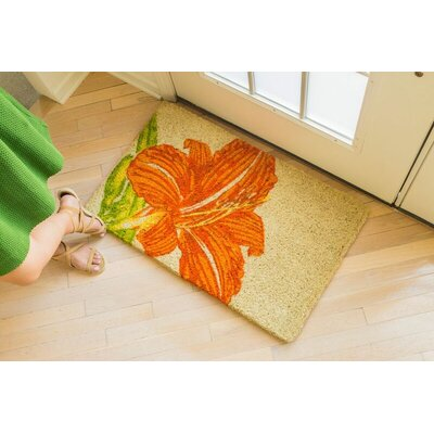 Williamsburg Tangerine Lily Doormat