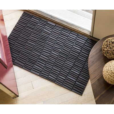 Timeless Wood Wall Recycled Rubber Door Mat