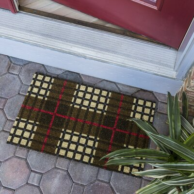 Sweet Home Plaid Non-Slip Coir Door Mat