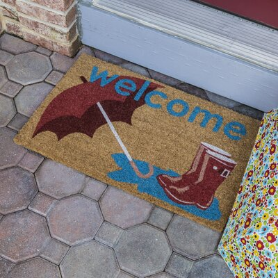 Sweet Home Boot and Umbrella Non-Slip Coir Door Mat