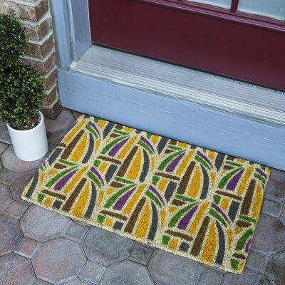 Kaleidoscope Hand-Woven Coconut Fiber Door Mat