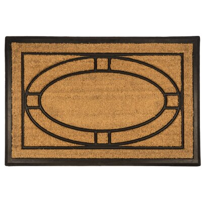 Bootscraper Ellipse Recycled Rubber and Coir Door Mat Rug Size: 2 x 3