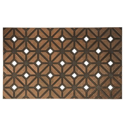 Timeless Rhombus Weave Recycled Rubber Door Mat