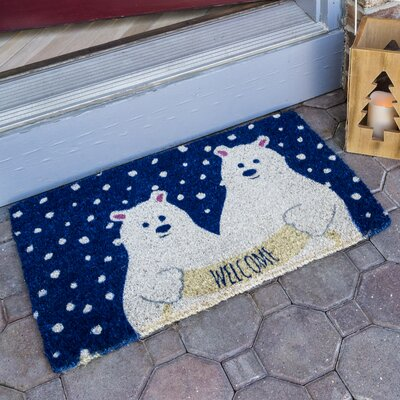 Polar Bears Handwoven Coconut Fiber Doormat