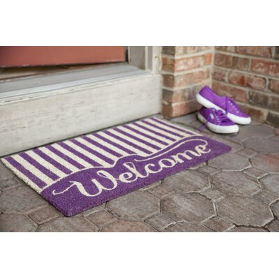 Sweet Home Striped Welcome Doormat