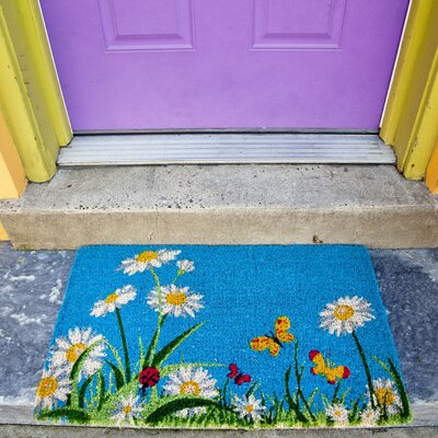 Gassin One Summer Day Doormat Mat Size: Rectangle 18 x 30