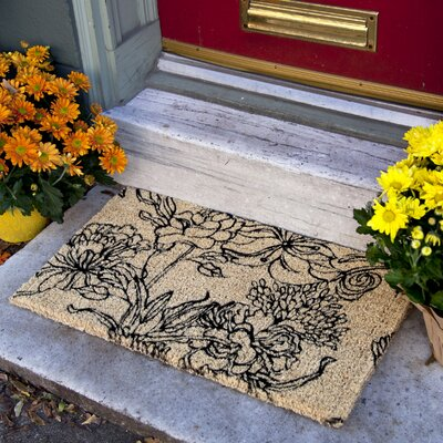 Artemesia Ink Bouquet Doormat Size: 18 x 30