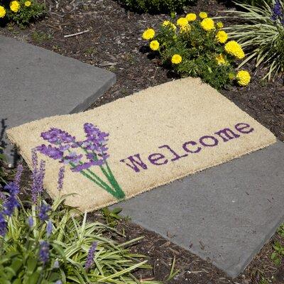 Bhabha Lavender Welcome Doormat