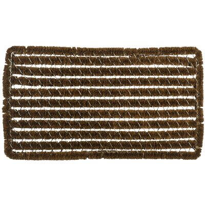 Stripes Wire Brush Boot Scraper Size: 14 x 25