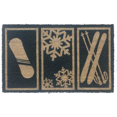 Sweet Home Snow Sports Non-Slip Coir Doormat