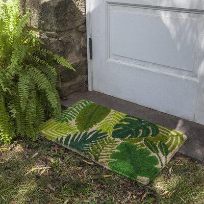 Sayli Tropical Leaves Doormat