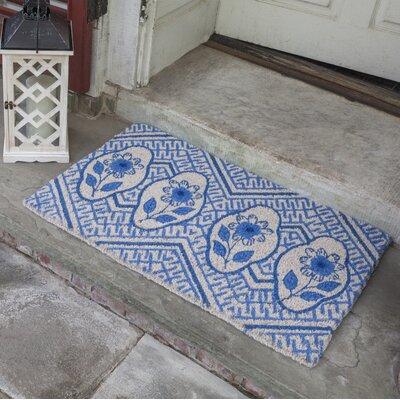 Emily Delft Flowers Doormat