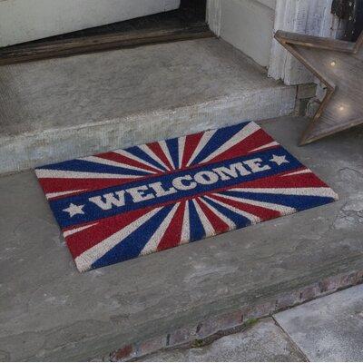 Dunagan Patriotic Welcome Doormat