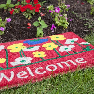 Artemesia Poppies Welcome Doormat