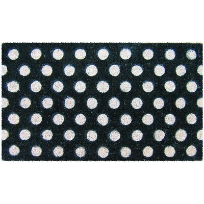 Sturbridge Polka Dots Doormat Mat Size: Rectangle 16 x 26