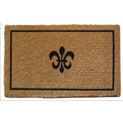 Patrick Fleur Dy Lys Doormat Mat Size: Rectangle 18 x 47