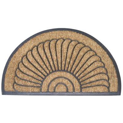 Dalton Shell Half Round Doormat Size: Half Round 18 x 30