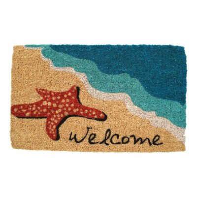 Juney Starfish Welcome Doormat Mat Size: Rectangle 18 x 30