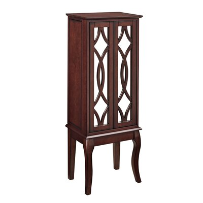 Marseilles Java Free Standing Jewelry Armoire with Mirror