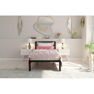 Nageshwar Platform Bed Size: Twin, Finish: Gold