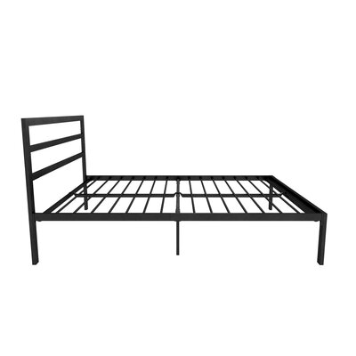 Sindel Platform Bed with Mattress Color: Black, Size: Full