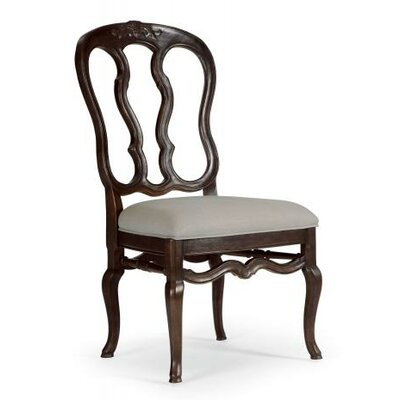 Belgian Oak Side Chair Frame Finish: Charcoal