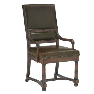 Vintage Patina Genuine Leather Upholstered Dining Chair