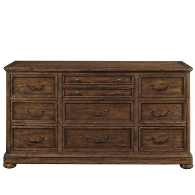 Vintage Patina 10 Drawer Dresser Color: Tobacco