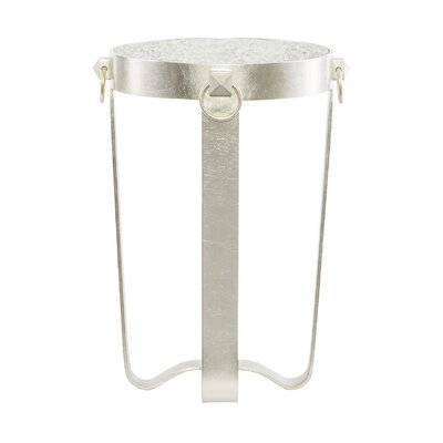 Portia Metal Round End Table