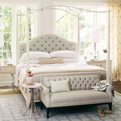 Savoy Place Poster Upholstered Panel Bed