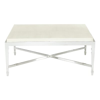 Criteria Square Embossed Leather Coffee Table