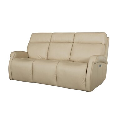Maddux Leather Power Motion 4 Piece Reclining Sofa