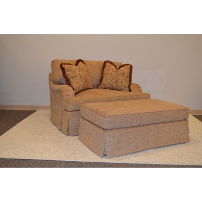 Crusoe Armchair and Ottoman Set