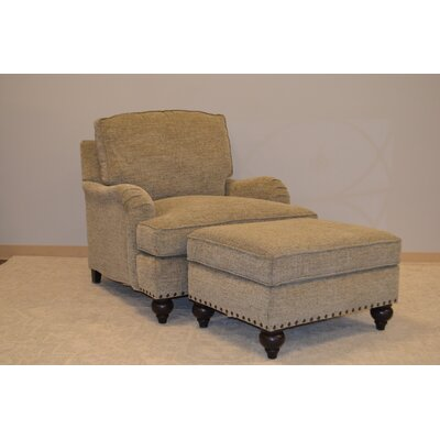 Toni Armchair and Ottoman Set