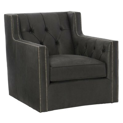 Candace Leather Club Chair