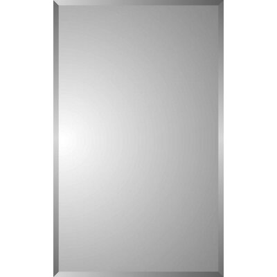Spigner Modern 16 x 26 Rectangular Recessed Medicine Cabinet with Mirror
