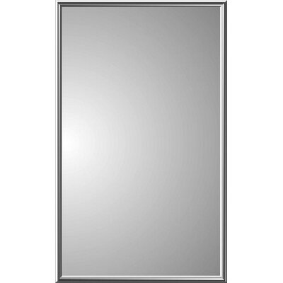 Spigner Modern 16 x 26 Recessed Medicine Cabinet with Mirror Frame Finish: Brass
