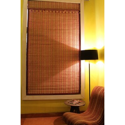 Bamboo Art Roman Shade Size:  60 W x 64 L