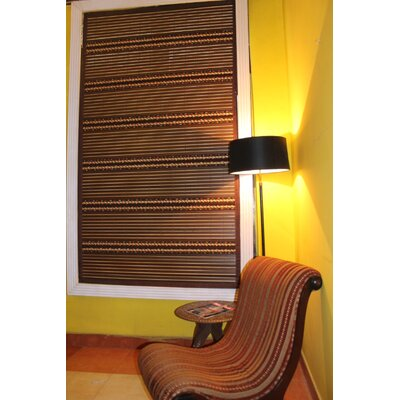 Simply Wood Roman Shade Size:  46 W x 64 L