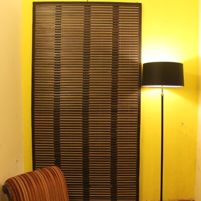 Bamboo Cuts Hot Tea Roman Shade Size:  46 W x 64 L