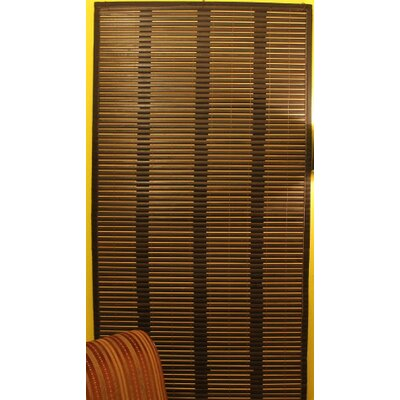Bamboo Cuts Hot Tea Roman Shade Size:  96 W x 72 L