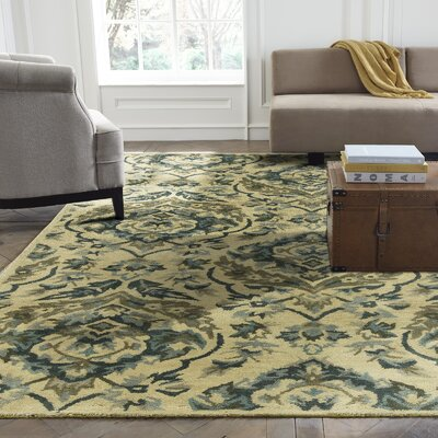 Katlyn Hand-Tufted Sand/Bluebell Area Rug Rug Size: Runner 26 x 10