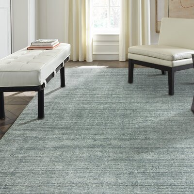 Hambleton Spa Hand-Woven Blue Area Rug Rug Size: Runner 26 x 10