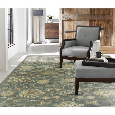 Allentown Hand-Tufted Mineral Blue Area Rug Rug Size: 7'6