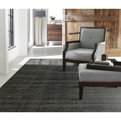 Saulters Hand-Woven Gray Area Rug Rug Size: 86 x 116