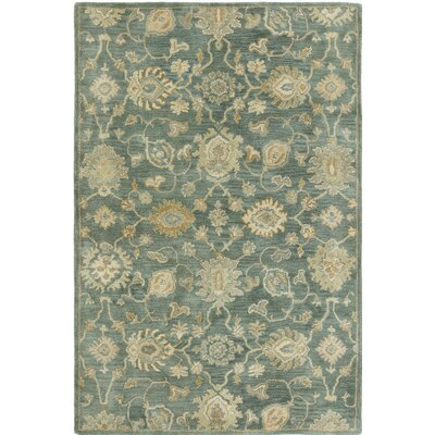 Allentown Hand-Tufted Mineral Blue Area Rug Rug Size: 2 x 3