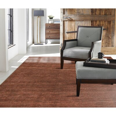 Chelsie Allspice Hand-Woven Rust Area Rug Rug Size: 2 x 3